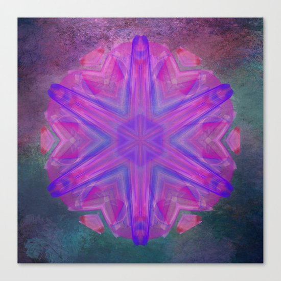 Jeweled splendor in vibrant pink Canvas Print