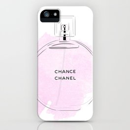 Round purple perfume iPhone Case