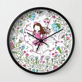 Sweet Ballerina Wall Clock