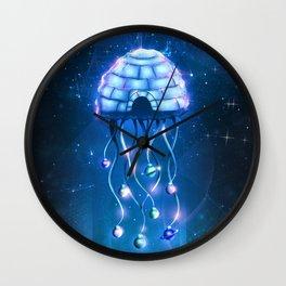 Christmas Jellyfish Wall Clock
