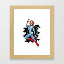 Space Pinup 1 Framed Art Print