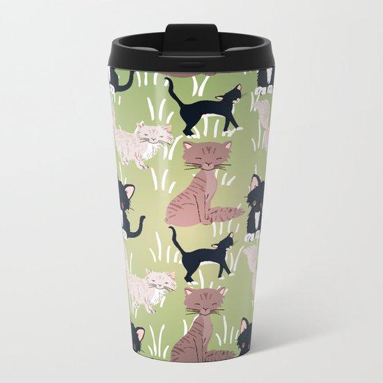Cats Meadow Metal Travel Mug