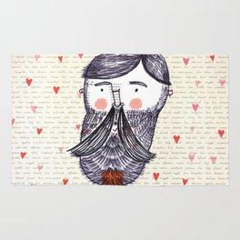 Bearded Lumberjack Man Rug