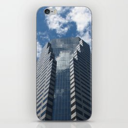 Building in blue iPhone Skin