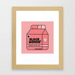 Black Women - Strawberry Framed Art Print