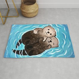 Family Friendly Otter Rug