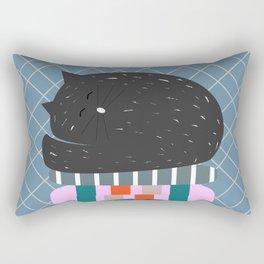Cat sleeping on pillows Rectangular Pillow
