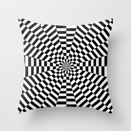 Optical Strpes Throw Pillow