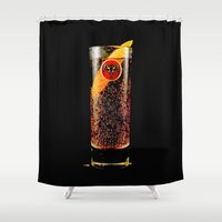 coke Shower Curtains featuring Barcadi Coke by Rothko