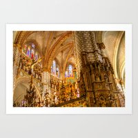 ornate elephant Art Prints featuring Ornate by John Hinrichs