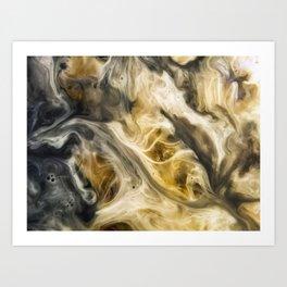 Purgatory Watercolor Abstract Painting Art Print