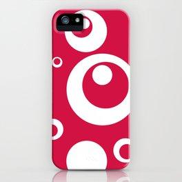 Circles Dots Bubbles :: Geranium iPhone Case