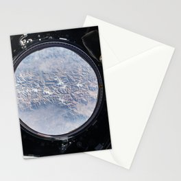The Earth view from the cupola onboard the International Space Station May 14th 2015 Stationery Cards