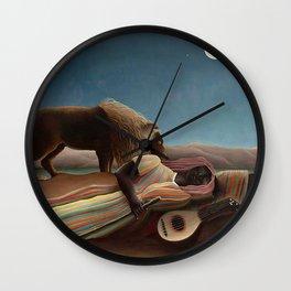 Henri Rousseau - The Sleeping Gypsy Wall Clock