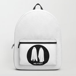 No Feet Ghosts Black and White Graphic Backpack