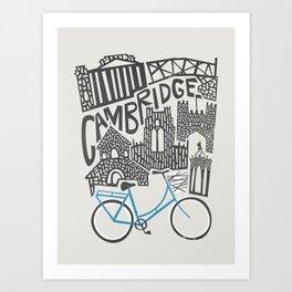 Cambridge Cityscape Art Print