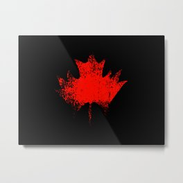 Maple leaf dark red Metal Print
