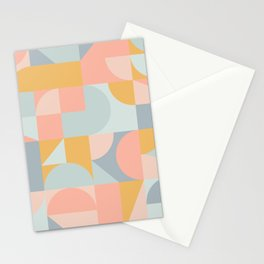 Summer Afternoon Abstraction / Pastel, Geometric Stationery Cards