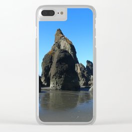 Sea Stacks Of Ruby Beach Clear iPhone Case