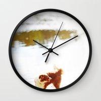 finn Wall Clocks featuring finn by sara montour