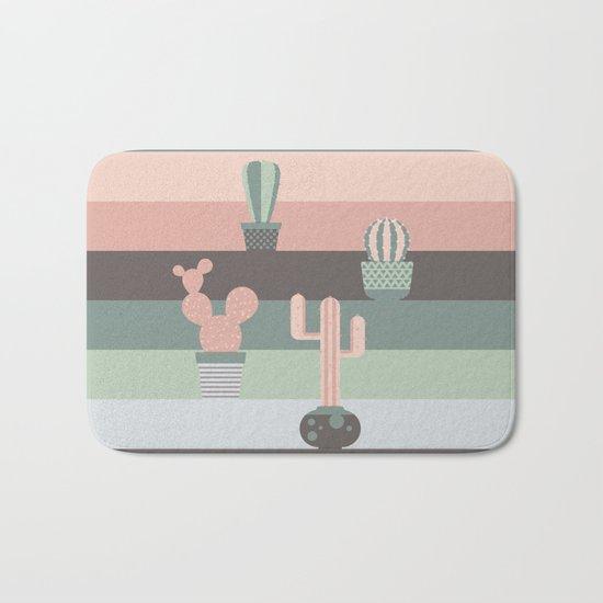 cacti colors Bath Mat