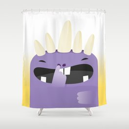 Violet, the monster Shower Curtain