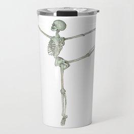 Ballerina Skeleton in Arabesque: Ballet lover Gift Travel Mug