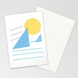 Retro Surf Mountain Stationery Cards