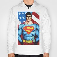 man of steel Hoodies featuring Man of Steel by Dave Franciosa