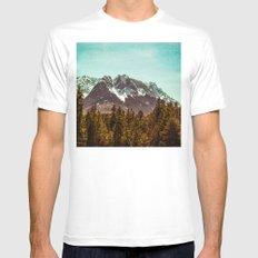 Alpspitze till Zugspitze White MEDIUM Mens Fitted Tee