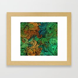 Indian Pattern 02 Framed Art Print