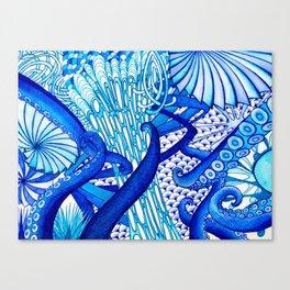 Blue Sploodge  Canvas Print