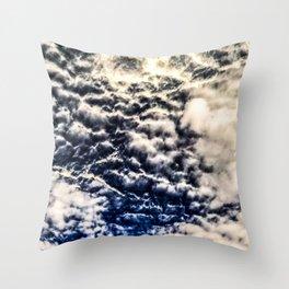 Dark Blue Skies Texture Abstract Throw Pillow