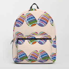 Happy Easter with ornamental eggs Backpack