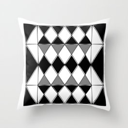 Shiny diamonds in black and white. Geometric abstract. Throw Pillow