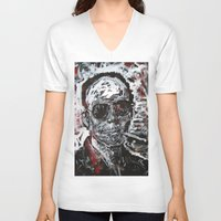 hunter s thompson V-neck T-shirts featuring Hunter S Thompson by Matt Pecson