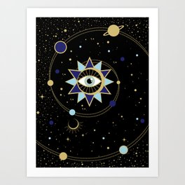 The Solar System Colored Version Art Print