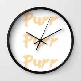 Purr Purr Purr Wall Clock