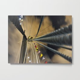Shipboard on the Queen Mary Metal Print