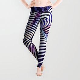 0727s-MM_4649 in Blue Sensual Striped Strong Woman's Torso Back Butt Leggings