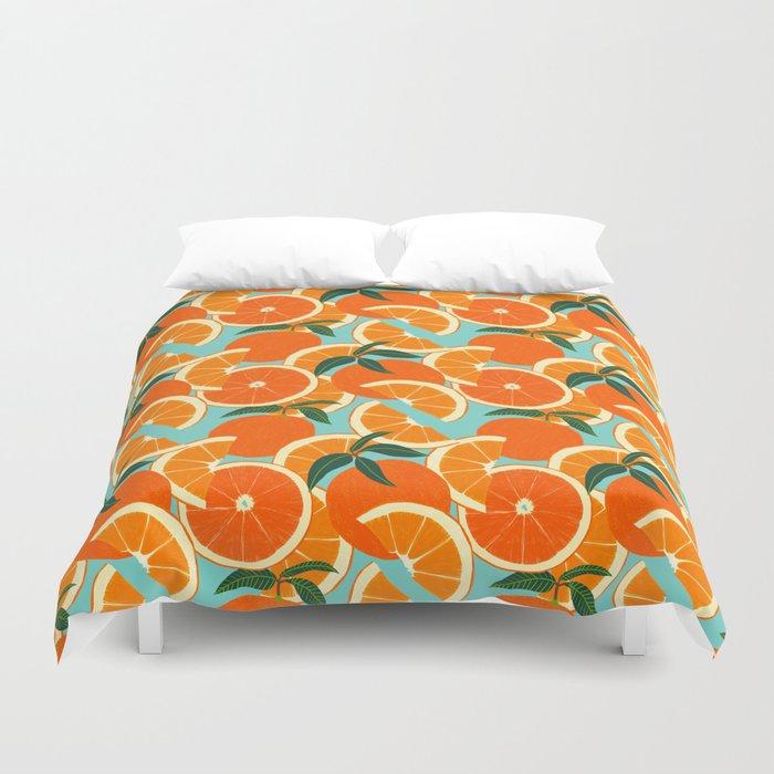 Orange Harvest - Blue Bettbezug