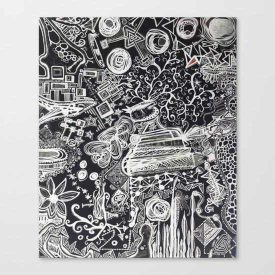 White/Black #2  Canvas Print