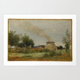 Jean-Baptiste-Camille Corot - Le four a briques Art Print