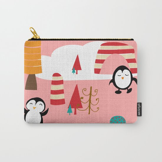 Oriana Penguin pink Carry-All Pouch