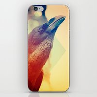 crow iPhone & iPod Skins featuring Crow by Victor Vercesi