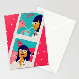 Le pulp love booth Stationery Cards