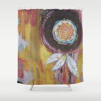 dream catcher Shower Curtains featuring Dream Catcher by Amy Walker Art