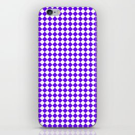 Small Diamonds - White and Indigo Violet iPhone Skin