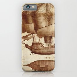 Leonardo Da Vinci's Airship iPhone Case