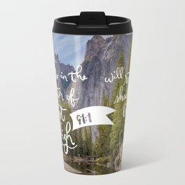 Psalm 91 with Background Travel Mug